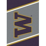 "Milliken College Team Spirit (NCAA) Washington 33391 Spirit Rectangle (4000019161) 5'4"" x 7'8"" Area Rug"