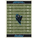 "Milliken NFL Team Home Field (NFL-F) Carolina Panthers 01015 Home Field Rectangle (4000019885) 10'9"" x 13'2"" Area Rug"