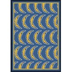 "Milliken NFL Team Repeat (NFL-R) San Diego Chargers 09077 Repeat Rectangle (4000096040) 10'9"" x 13'2"" Area Rug"