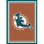 "Milliken NFL Team Spirit (NFL-S) Miami Dolphins 00950 Spirit Rectangle (4000095662) 10'9"" x 13'2"" Area Rug"