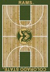Milliken College Home Court (NCAA) Colorado State 01065 Court Rectangle (4000018288) 3'10
