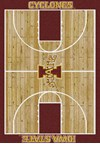 Milliken College Home Court (NCAA) Iowa State 01111 Court Rectangle (4000018381) 5'4
