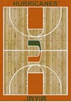 Milliken College Home Court (NCAA) Miami 01157 Court Rectangle (4000018476) 7'8