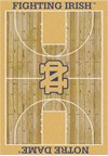 Milliken College Home Court (NCAA) Notre Dame 01260 Court Rectangle (4000018405) 5'4