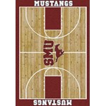"Milliken College Home Court (NCAA) Southern Methodist 01390 Court Rectangle (4000018335) 3'10"" x 5'4"" Area Rug"