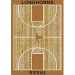 "Milliken College Home Court (NCAA) Texas 01410 Court Rectangle (4000018340) 3'10"" x 5'4"" Area Rug"