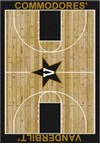 Milliken College Home Court (NCAA) Vanderbilt 01453 Court Rectangle (4000018517) 7'8