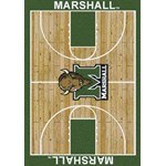 "Milliken College Home Court (NCAA-CRT) Marshall 01153 Court Rectangle (4000096100) 10'9"" x 13'2"" Area Rug"