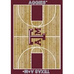"Milliken College Home Court (NCAA-CRT) Texas A&M 01420 Court Rectangle (4000096120) 10'9"" x 13'2"" Area Rug"