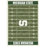 "Milliken College Home Field (NCAA) Michigan State 01180 Home Field Rectangle (4000018564) 5'4"" x 7'8"" Area Rug"