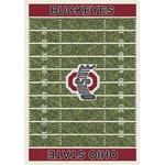 "Milliken College Home Field (NCAA-FLD) Ohio State 01000 Home Field Rectangle (4000052309) 3'10"" x 5'4"" Area Rug"