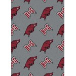 "Milliken College Repeating (NCAA) Arkansas 01020 Repeat Rectangle (4000018969) 10'9"" x 13'2"" Area Rug"