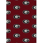 "Milliken College Repeating (NCAA) Georgia 01080 Repeat Rectangle (4000018764) 3'10"" x 5'4"" Area Rug"