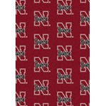 "Milliken College Repeating (NCAA) Nebraska 01230 Repeat Rectangle (4000018786) 3'10"" x 5'4"" Area Rug"