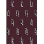 "Milliken College Repeating (NCAA) Southern Illinois 01380 Repeat Rectangle (4000020487) 5'4"" x 7'8"" Area Rug"