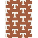 "Milliken College Repeating (NCAA) Tennessee 01400 Repeat Rectangle (4000018802) 3'10"" x 5'4"" Area Rug"
