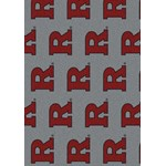 "Milliken College Repeating (NCAA-RPT) Rutgers 01347 Repeat Rectangle (4000054926) 7'8"" x 10'9"" Area Rug"