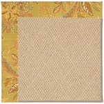 Capel Rugs Creative Concepts Cane Wicker - Cayo Vista Tea Leaf (210) Octagon 4' x 4' Area Rug