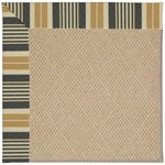 Capel Rugs Creative Concepts Cane Wicker - Long Hill Ebony (340) Octagon 4' x 4' Area Rug