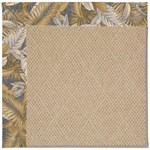 Capel Rugs Creative Concepts Cane Wicker - Bahamian Breeze Ocean (420) Octagon 4' x 4' Area Rug