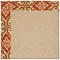 Capel Rugs Creative Concepts Cane Wicker - Shoreham Brick (800) Octagon 4