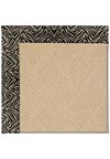 Capel Rugs Creative Concepts Cane Wicker - Wild Thing Onyx (396) Octagon 6' x 6' Area Rug