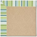 Capel Rugs Creative Concepts Cane Wicker - Capri Stripe Breeze (430) Octagon 6