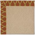 Capel Rugs Creative Concepts Cane Wicker - Bamboo Cinnamon (856) Octagon 6