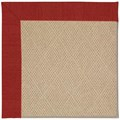 Capel Rugs Creative Concepts Cane Wicker - Canvas Cherry (537) Octagon 8