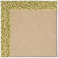 Capel Rugs Creative Concepts Cane Wicker - Coral Cascade Avocado (225) Octagon 10