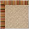 Capel Rugs Creative Concepts Cane Wicker - Tuscan Stripe Adobe (825) Runner 2