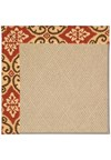 Capel Rugs Creative Concepts Cane Wicker - Shoreham Brick (800) Rectangle 4' x 4' Area Rug