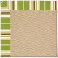 Capel Rugs Creative Concepts Cane Wicker - Tux Stripe Green (214) Rectangle 8