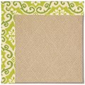 Capel Rugs Creative Concepts Cane Wicker - Shoreham Kiwi (220) Rectangle 12