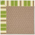 Capel Rugs Creative Concepts Grassy Mountain - Tux Stripe Green (214) Rectangle 3