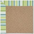 Capel Rugs Creative Concepts Raffia - Capri Stripe Breeze (430) Octagon 4
