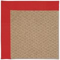 Capel Rugs Creative Concepts Raffia - Canvas Jockey Red (527) Octagon 10