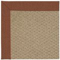 Capel Rugs Creative Concepts Raffia - Linen Chili (845) Octagon 10