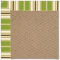 Capel Rugs Creative Concepts Raffia - Tux Stripe Green (214) Rectangle 3
