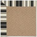 Capel Rugs Creative Concepts Raffia - Down The Lane Ebony (370) Rectangle 6