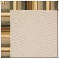 Capel Rugs Creative Concepts White Wicker - Kalani Coal (330) Octagon 4