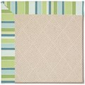 Capel Rugs Creative Concepts White Wicker - Capri Stripe Breeze (430) Octagon 4