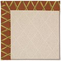 Capel Rugs Creative Concepts White Wicker - Bamboo Cinnamon (856) Octagon 4