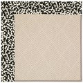 Capel Rugs Creative Concepts White Wicker - Coral Cascade Ebony (385) Octagon 6