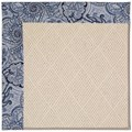 Capel Rugs Creative Concepts White Wicker - Paddock Shawl Indigo (475) Octagon 6