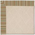 Capel Rugs Creative Concepts White Wicker - Dorsett Autumn (714) Octagon 6