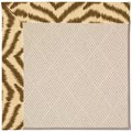 Capel Rugs Creative Concepts White Wicker - Couture King Chestnut (756) Octagon 6