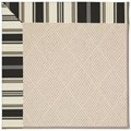Capel Rugs Creative Concepts White Wicker - Down The Lane Ebony (370) Octagon 8