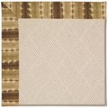 Capel Rugs Creative Concepts White Wicker - Java Journey Chestnut (750) Octagon 8