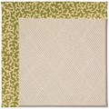 Capel Rugs Creative Concepts White Wicker - Coral Cascade Avocado (225) Octagon 10